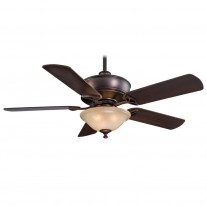 "52"" Bolo Ceiling Fan with Light F620-DBB by Minka Aire Fans - Dark Brushed Bronze"