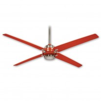 "60"" Minka Aire Spectre F726-BN/ORG - Orange / Brushed Nickel Finish - 6 Speed DC Ceiling Fan"