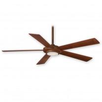 "52"" Minka Aire Sabot Ceiling Fan F745-DK - Distressed Koa Finish w/ LED Lighting - Contemporary Fan w/ Remote"