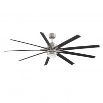 "84"" Fanimation Odyn Ceiling Fan - FPD8149BNWBL - Brushed Nickel/Black"