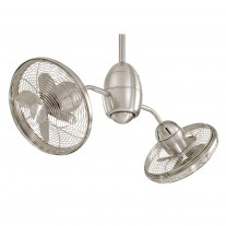 "36"" Gyrette Ceiling Fan, Minka Aire F302-BN - Small Dual Ceiling Fan"