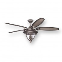 "Ellington Kingsbridge 56"" Ceiling Fan KNB56AND5, Antique Nickel, Outdoor Rated"