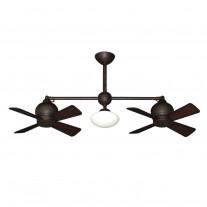 Metropolitan Ceiling Fan by Gulf Coast - Dual Tiltable Motors - Oil Rubbed Bronze Finish
