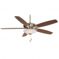 "Minka Aire Mojo Ceiling Fan with Light F522-BN - 52"" Reversible Dark Walnut / Med. Maple Blades"