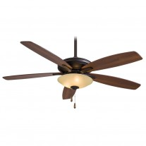 "Minka Aire Mojo Ceiling Fan w/ Light F522-ORB/TS - 52"" Reversible Dark Walnut / Med. Maple Blades"