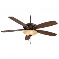 """Minka Aire Mojo Ceiling Fan w/ Light F522-ORB/TS - 52"""" Reversible Dark Walnut / Med. Maple Blades"""