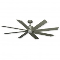 "60"" TroposAir Northstar Modern DC Ceiling Fan w/ Integrated LED Light -  Brushed Nickel"