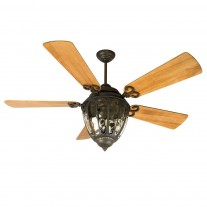 """54"""" Olivier Ceiling Fan w/ Light OV70AG by Craftmade - 7 Blade Finish Options"""