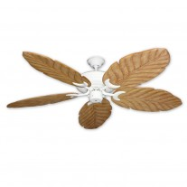 "58"" 100 Series Raindance Ceiling Fan Pure White - 5 Solid Wood Blade Finish Options"