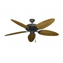 "52"" Outdoor Wet Rated Bamboo Raindance Ceiling Fan Oil Rubbed Bronze - 6 Blade Finishes"