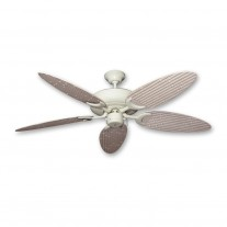 "52"" Outdoor Wet Rated Bamboo Raindance Ceiling Fan Antique White - 6 Blade Finishes"