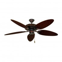 "52"" Outdoor Wet Rated Bamboo Raindance Ceiling Fan Wine Finish - 6 Blade Finishes"