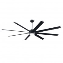 84 Inch Fanimation Stellar Ceiling Fan - MAD7993BLW Black- Price Includes B7993-84 Blades