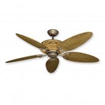 "52"" Gulf Coast Tiki Outdoor Ceiling Fan - Realistic Faux Bamboo Motor Housing"