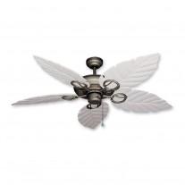 """52"""" Gulf Coast Trinidad Ceiling Fan Ant. Bronze - 3 Leaf Finishes"""