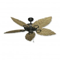 "52"" Gulf Coast Trinidad Ceiling Fan Oiled Bronze - 3 Leaf Finishes"
