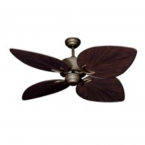 "50"" Bombay Damp Rated Ceiling Fan - Antique Bronze - Oiled Bronze Blades"