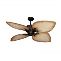 "50"" Bombay Damp Rated Ceiling Fan - Oil Rubbed Bronze - Tan Blades"