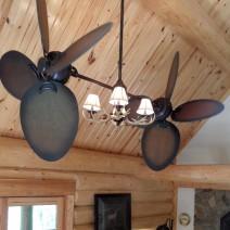 Rustic Dual Ceiling Fan - Twin Star III