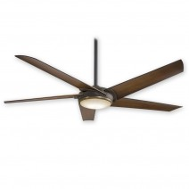 "60"" Raptor by Minka Aire F617L-ORB/AB - Oil Rubbed Bronze/Antique Brass - 5 Speed DC Ceiling Fan w/ Remote"