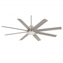 "65"" Minka Aire Slipstream Ceiling Fan - F888-BNW Wet Rated For Indoor / Outdoor Use"