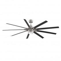 Fanimation Odyn Ceiling Fan FPD8149BNWBL - Brushed Nickel w/ Black Blades