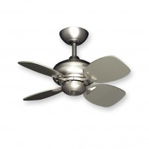 Mini Breeze Ceiling Fan w/ Small Satin Steel Blades