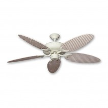 Raindance Bamboo Palm Ceiling Fan - Distressed White Blades (bamboo side shown)