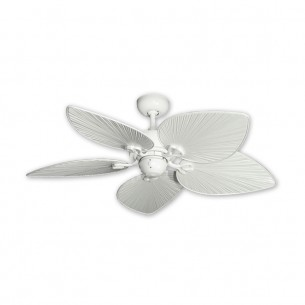 "42"" Bombay Ceiling Fan - Pure White - Pure White Blades"