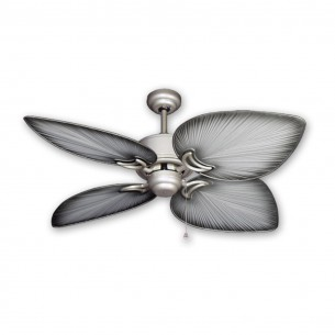 "50"" Bombay Ceiling Fan - Brushed Nickel - Brushed Nickel Blades"