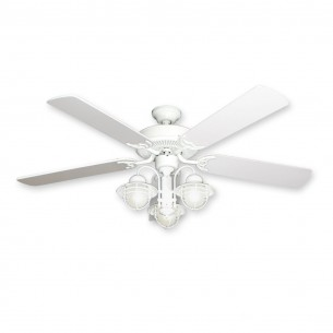 "52"" Beachfront Nautical Ceiling Fan - Pure White Finish"