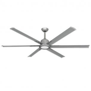 "TroposAir 72"" Titan II Ceiling Fan - Brushed Nickel - Optional LED Light (sold separately)"