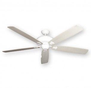 "Tiara Ceiling Fan Pure White - 72"" Whitewashed Blades"