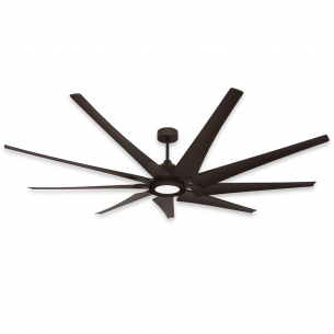 "TroposAir 82"" LIberator Ceiling Fan - Oil Rubbed Bronze w/ 18W LED Array Light"