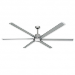 "TroposAir Titan II 84"" Ceiling Fan - Brushed Nickel (shown with optional LED light)"