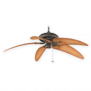 "Fanimation Belleria FP4320AZ1 - Aged Bronze shown w/ BPW6090DNA 60"" Blades"