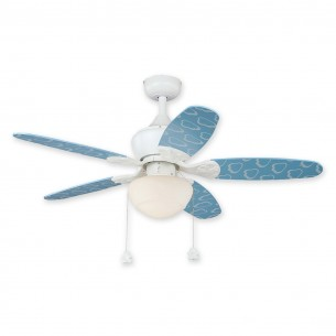 "44"" Alex Ceiling Fan by Vaxcel - F0037 - Blue w/ Light"