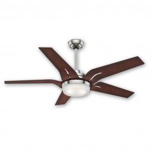 "56"" Correne Ceiling Fan - Casablacna 59197 Brushed Nickel w/ Coffee Beech Blades"