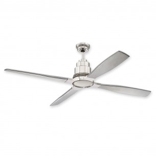 "60"" Craftmade Ricasso Ceiling Fan RIC60PLN w/ Brushed Nickel Blades"