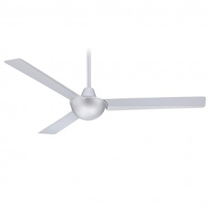 "52"" Kewl Ceiling Fan by Minka Aire F833-SL - Silver Finish"