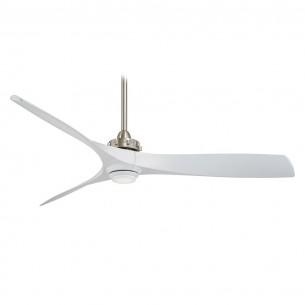 Minka Aire Aviation LED - F853L-BN/WH - White Blades