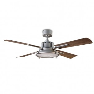 """56"""" Nautilus Ceiling Fan - FR-W1818-56L-GHWG by Modern Forms - Graphite w/ Weathered Gray"""