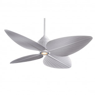 Gauguin Ceiling Fan by Minka Aire - Flat White Tropical Fan