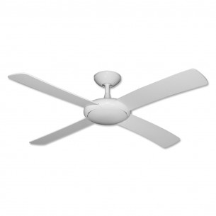 Gulf Coast Luna Ceiling Fan - Pure White - No Light