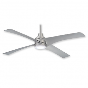 Swept Ceiling Fan by Minka Aire w/ LED Light - F543L-SL - Silver