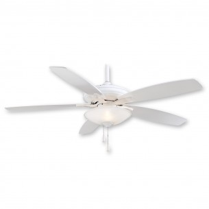 "52"" Mojo Ceiling Fan by Minka Aire F522-WH - White on White Finish"
