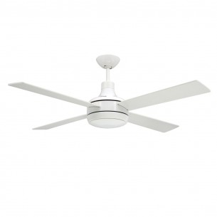Quantum Ceiling Fan Pure White - Light Optional