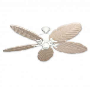 125 Series Raindance Ceiling Fan Pure White - Whitewashed Blades