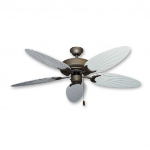 Bamboo Raindance Ceiling Fan - Pure White Blades (palm side shown)