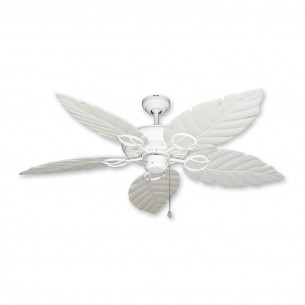 Trinidad Ceiling Fan Pure White - Pure White Leaf Blades